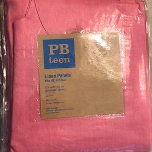 Pottery Barn Teen 52x96 pink linen panels